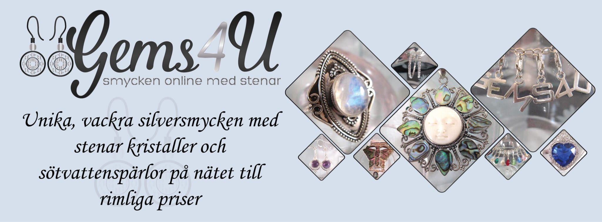 Smycken online med stenar pärlor kristaller o Kubisk Zirkonia