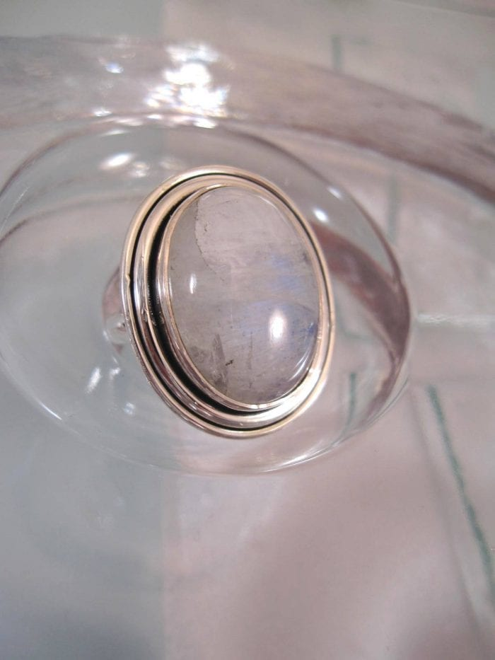 Månsten ring – Cab/Oval 4