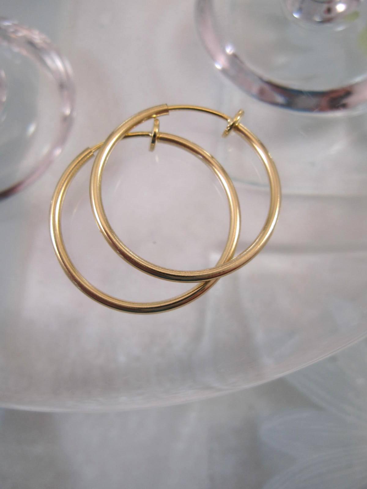 Clips creoler örhängen 2,4 cm – Guldpläterade
