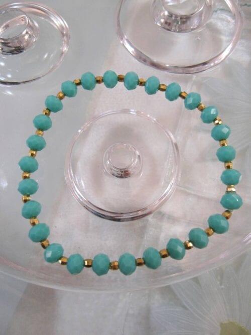 Kristaller o Mässing armband - Flex