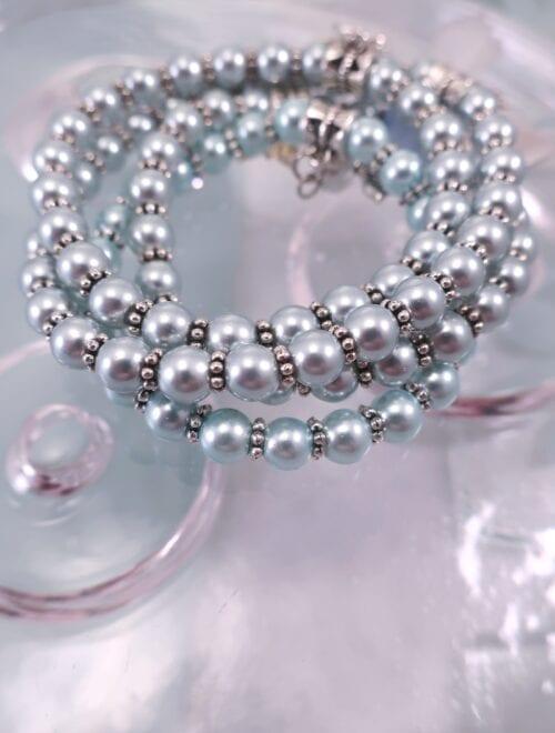 Glas armband - Flex/Ljusblå