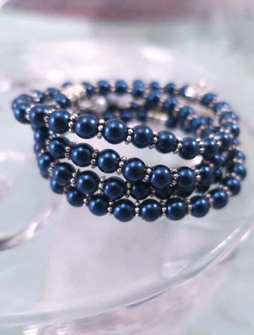 Glas armband - Flex/Blå