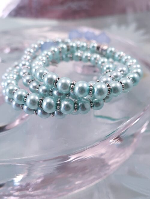 Glas armband - Flex/Turkos