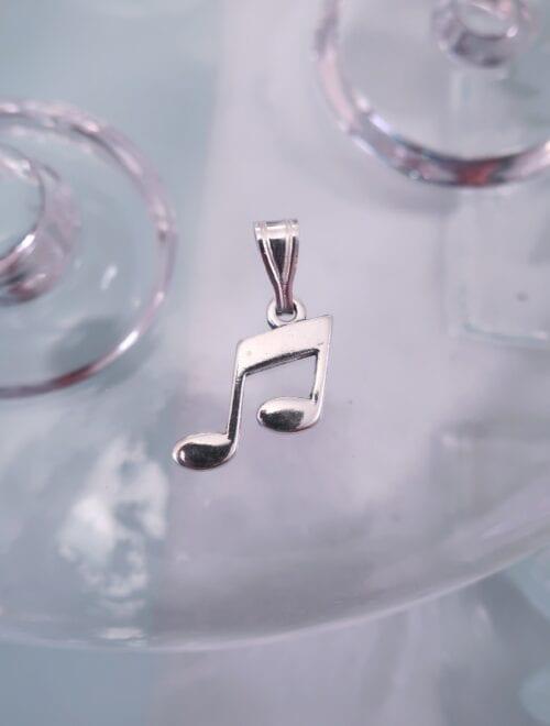 Berlock med hänge – Musik/Noter/Åttondels not