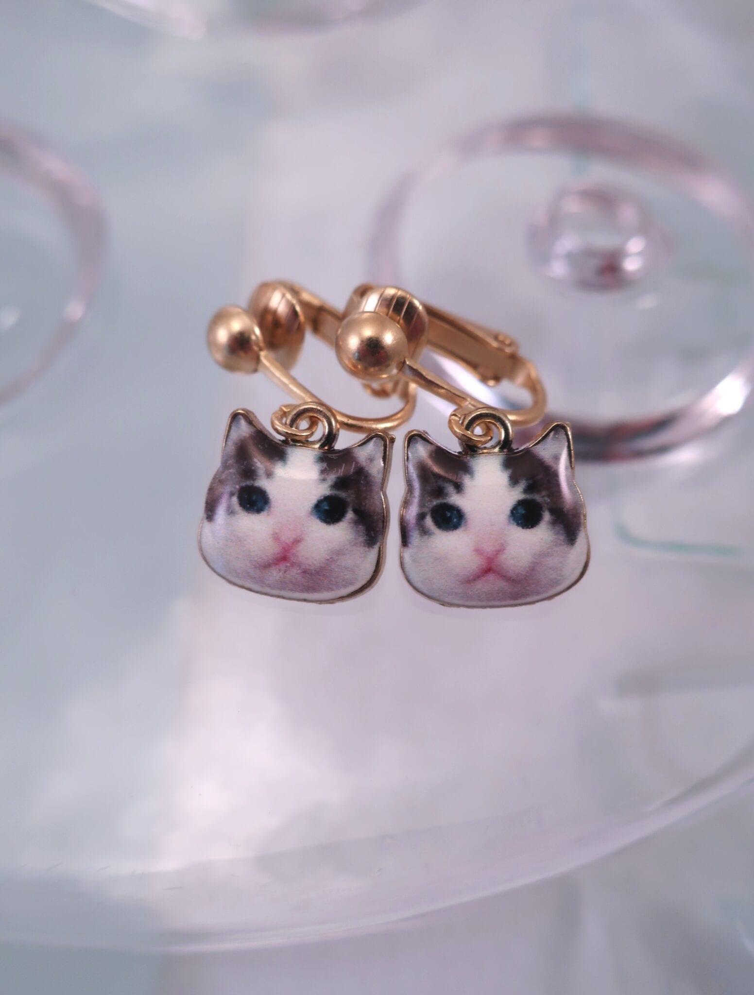 Clips örhängen med katter - Djur/GP
