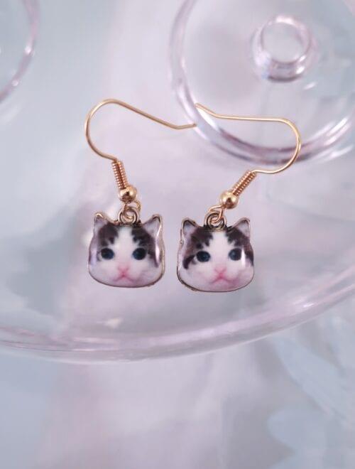 Örhängen med katter – Emaljerad/GP
