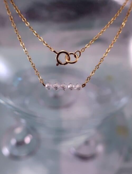 Guldhalsband - 14K GF/Kubisk Zirkonia/Diamant