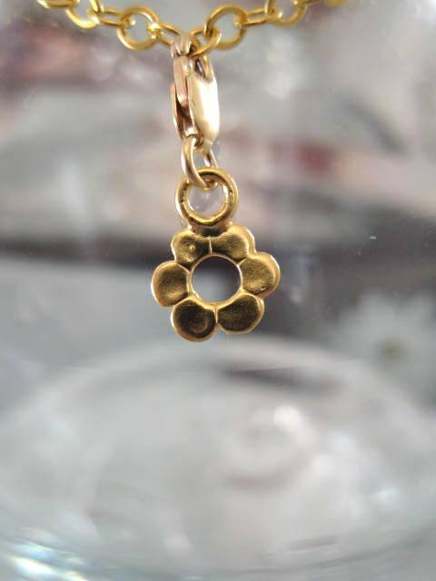 Guldberlock med karbinlås - Blomma/14K GF