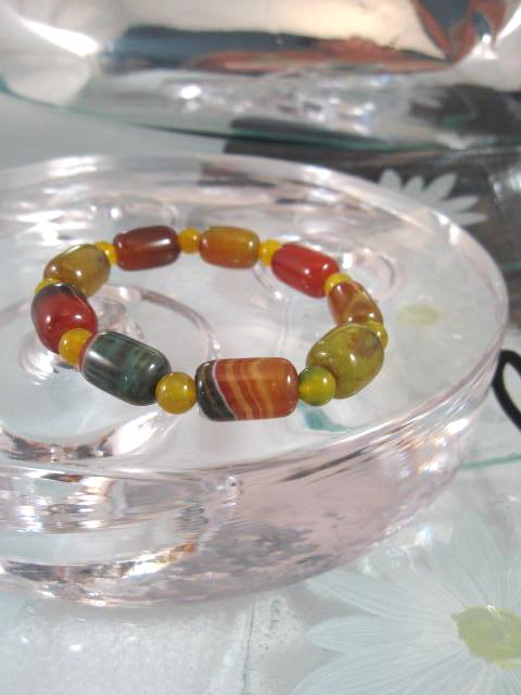Agat armband - Multifärg/Flex