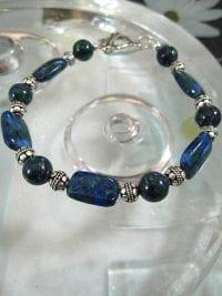 Azurit-Malakit armband - Blå/Grön