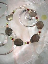 Labradorit, Citrin, Granat, Peridot o Topas armband