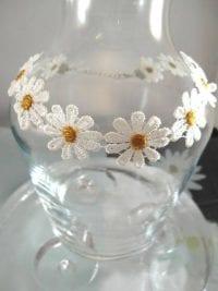 Choker halsband med blommor Gul/Vit/Daisy/Prästkrage