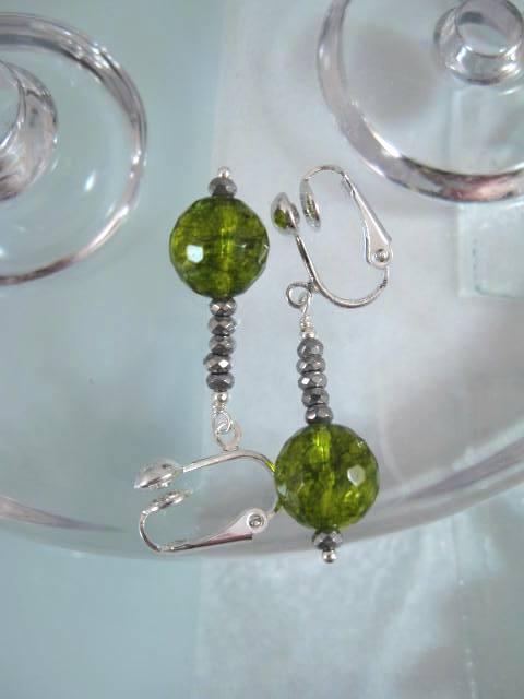 Clips örhängen med, utan stenar, pärlor, kristaller, CZ
