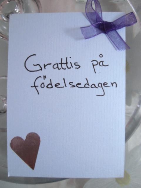 Gratulationskort - Ljusblå/Lila