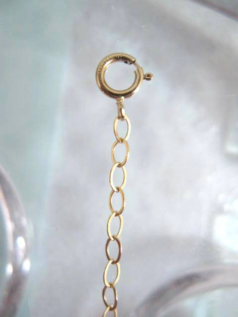 Guldkedja 2,2 mm förlängningskedja med springlås - 6 cm/14K GF