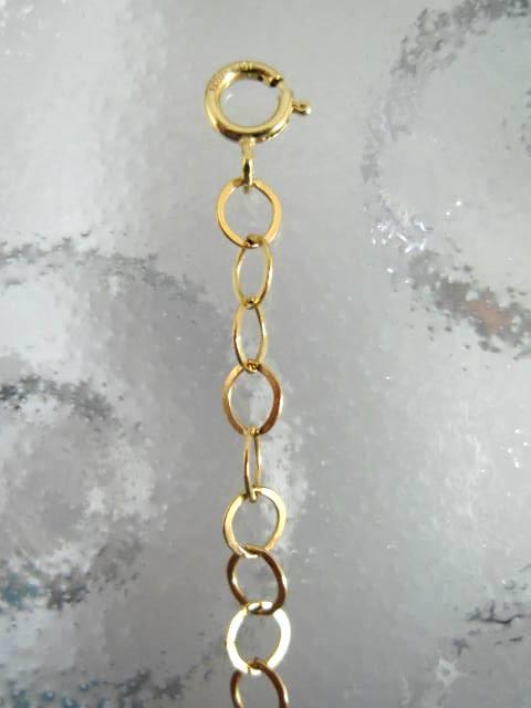 Guldkedja 4 mm förlängningskedja med springlås - 5 cm/14K GF