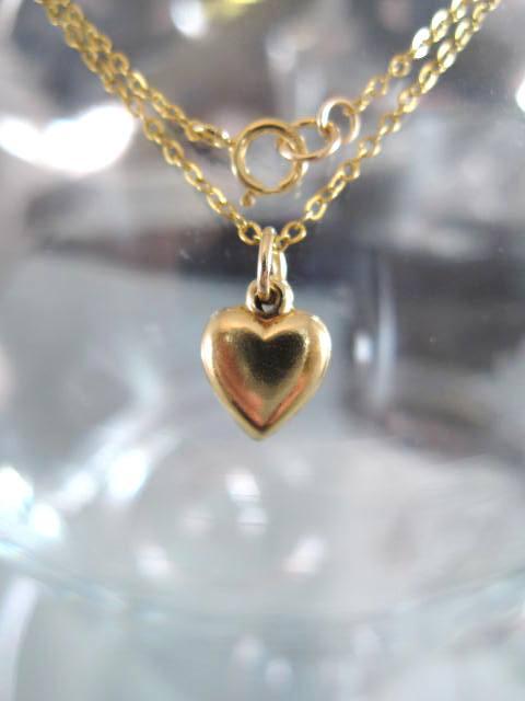 Guldhalsband - 14K GF/Hjärta