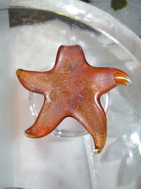 Glas hänge - Sjöstjärna/Orange/XL