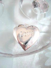 Bonus erbjudande - Silverhjärta medaljong - Love/Öppningsbar
