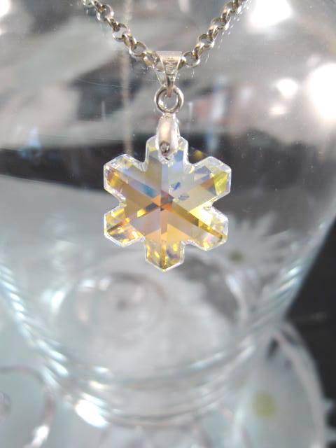 Swarovskikristall hängsmycke Snöstjärna