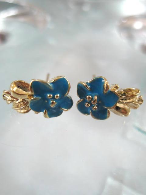 Bonus erbjudande - Guldörhängen - Blomma/Blå