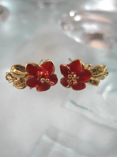 Bonus erbjudande 300 - Guldörhängen - Blomma/Röd