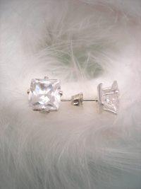"Cubic Zirkon örhängen ""Diamant"" - Studs/Kuber/Unisex"