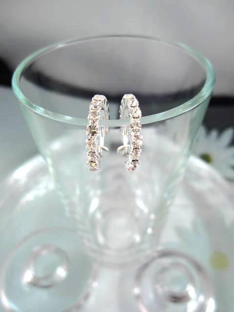 Clips creoler örhängen med Strass 1,5 cm