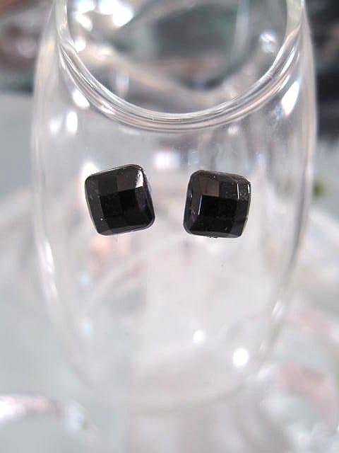 Clips Magnetiska studs örhängen - Kant/Fasett/Svart/Unisex