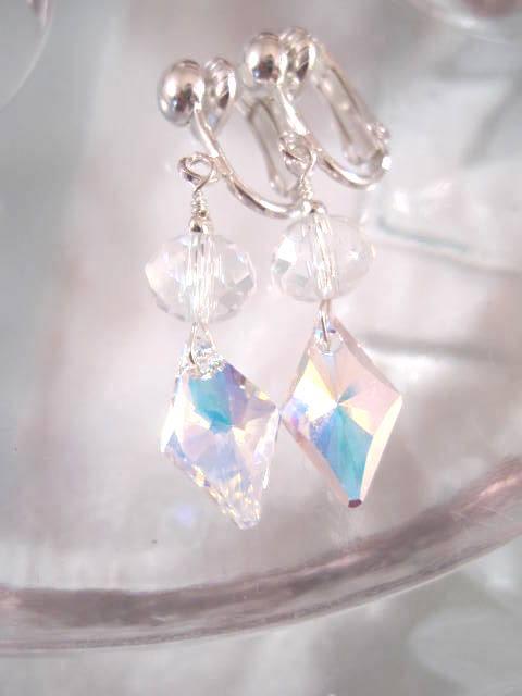 Clips örhängen med Swarovskikristaller o Kubisk Zirkonia