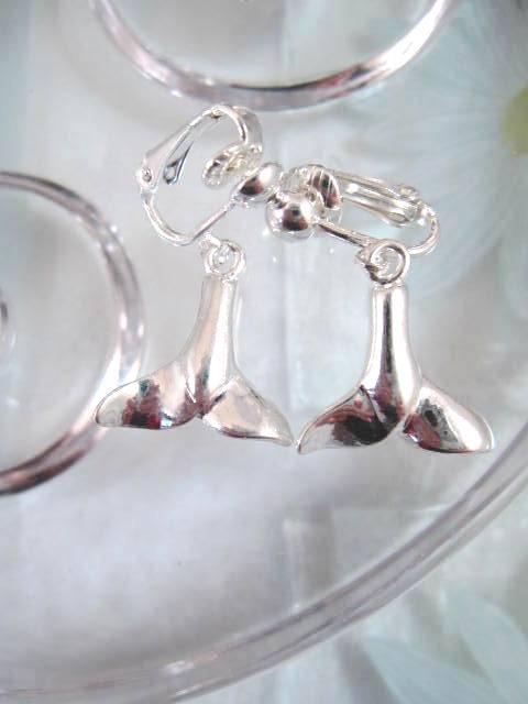 Clips örhängen med djur Valstjärt