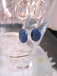 Creoler örhängen med Lapis Lazuli - Oval