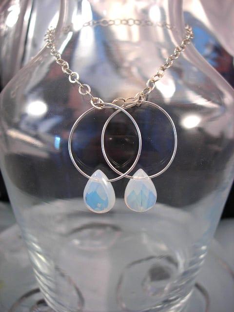 Opalit örhängen - Creoler/Fasett/Droppe