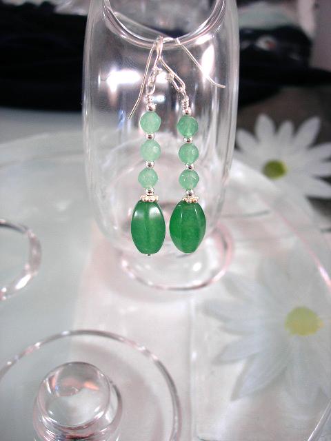 Jade örhängen - Grön/CZ