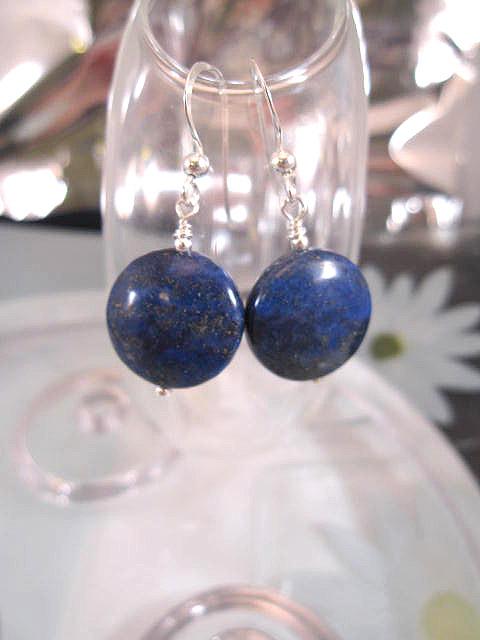 Lapis Lazuli örhängen - Coin/XL