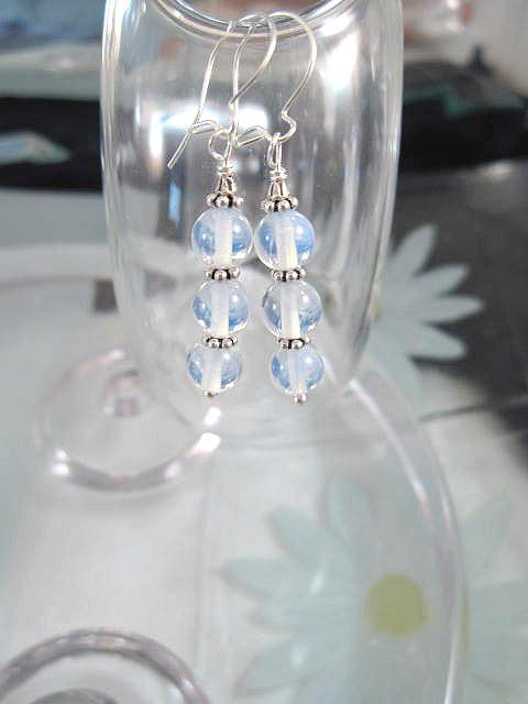 Opalit örhängen - Pärlor