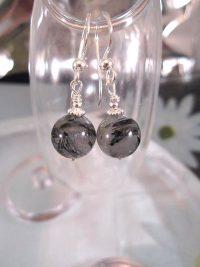 Rutilkvarts örhängen - Pärlor