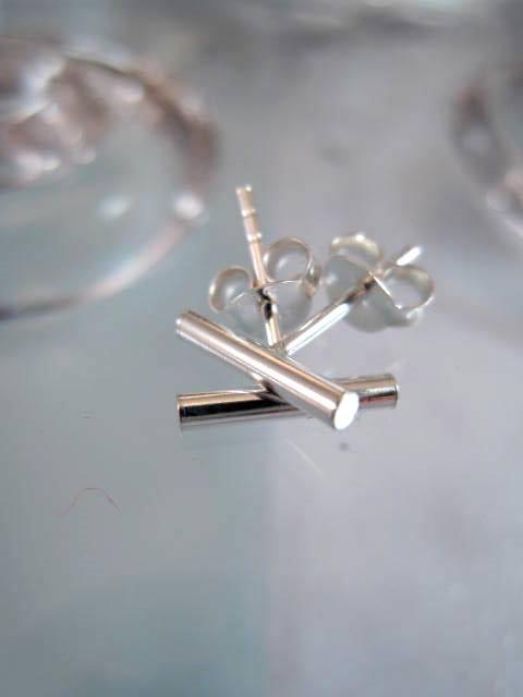 Silverstavar örhängen - Studs