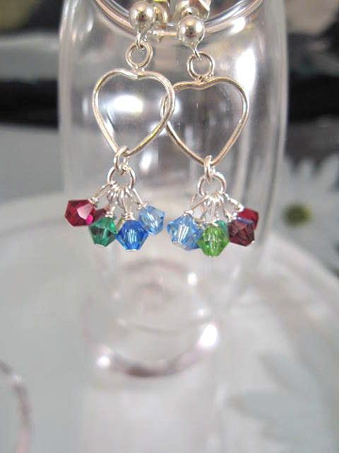 Swarovskikristall örhängen - Multifärg/Klase/Hjärtan