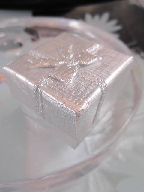 Presentask Berlock, Ring - Silver, rosett