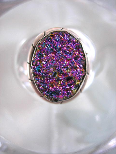 Titanium Drusy ring - Oval