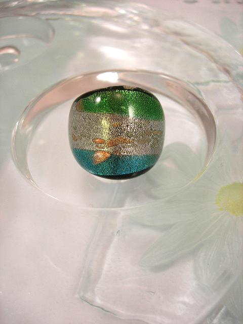 Bonus erbjudande 300 - Glasring 17.25 - Grön/Vit/Blå