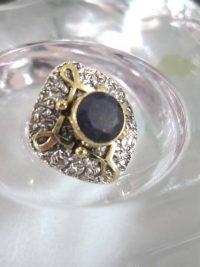 Safir o Mässing ring - Fasett