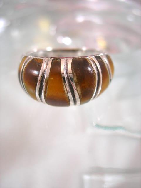 Tigeröga ring - Randig