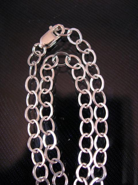 Silverkedja 4 mm - Berlock 1, berlockarmband, vristlänk, 20 cm lång