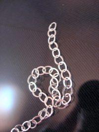 Silverkedja 4 mm - Berlock 1, förlängning på armband, halsband, vristlänk, 5 cm