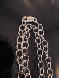 Silverkedja 4 mm - Berlock 2, berlockhalsband, 42 cm lång