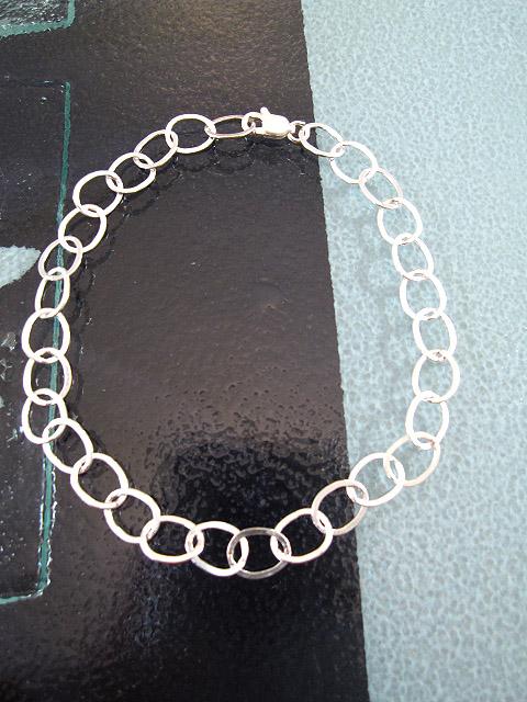 Silverkedja 7 mm - Berlock, berlockarmband 20 cm lång