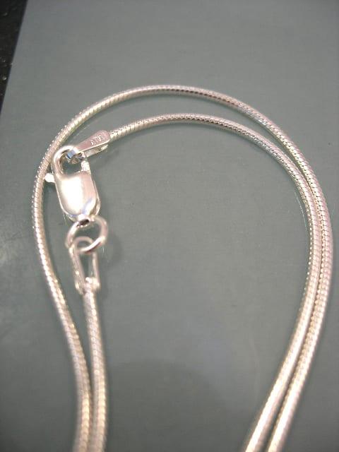 Silverkedja 1,3 mm - Orm, 46 cm lång