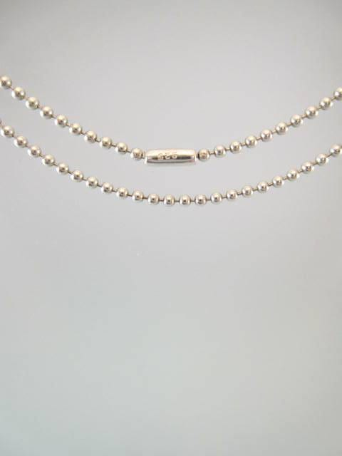 Silverkedja 1,5 mm - Ärtkedja, 5 cm lång - armband, halsband, vristlänk